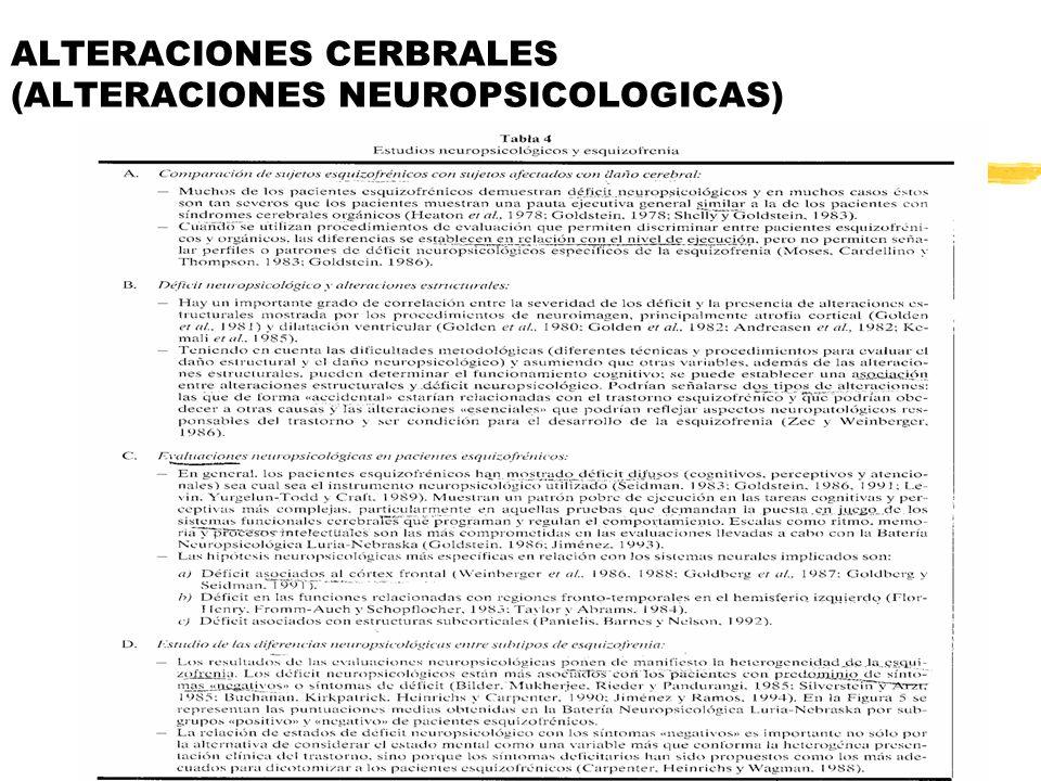ALTERACIONES CERBRALES (ALTERACIONES NEUROPSICOLOGICAS)