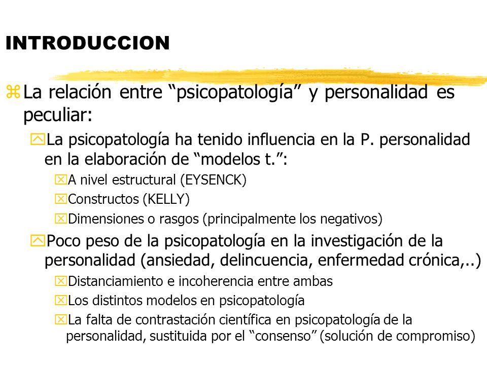 La relación entre psicopatología y personalidad es peculiar: