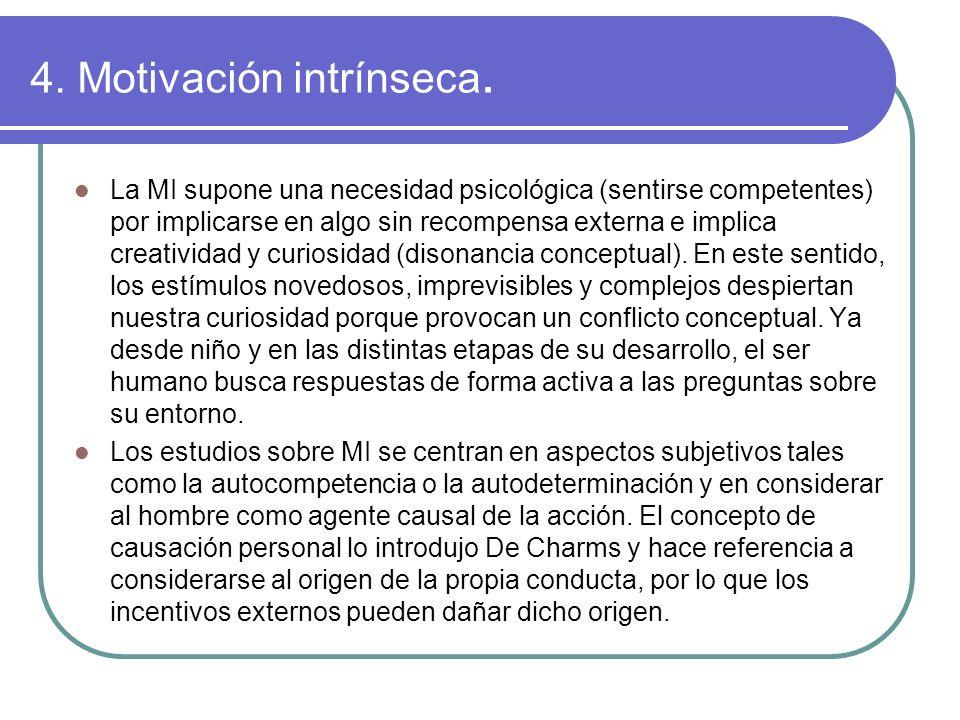4. Motivación intrínseca.