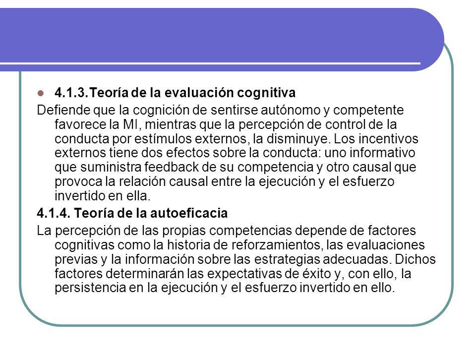 4.1.3.Teoría de la evaluación cognitiva