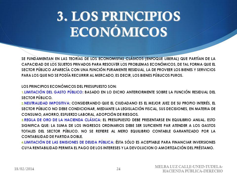 3. LOS PRINCIPIOS ECONÓMICOS