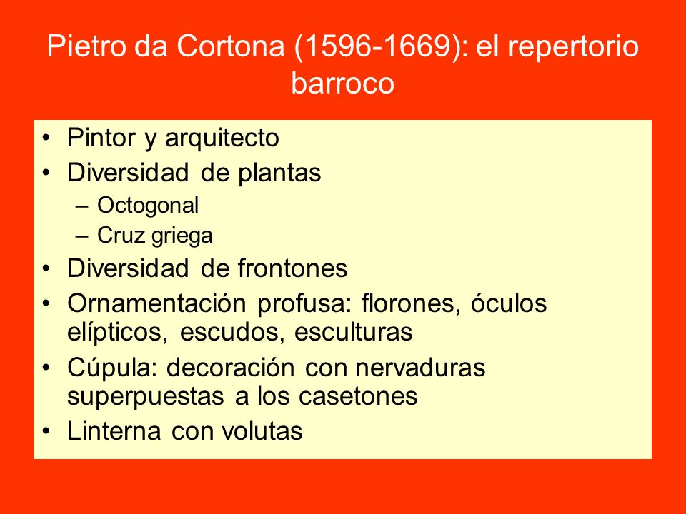 Pietro da Cortona (1596-1669): el repertorio barroco