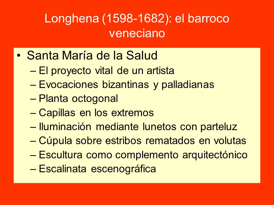 Longhena (1598-1682): el barroco veneciano