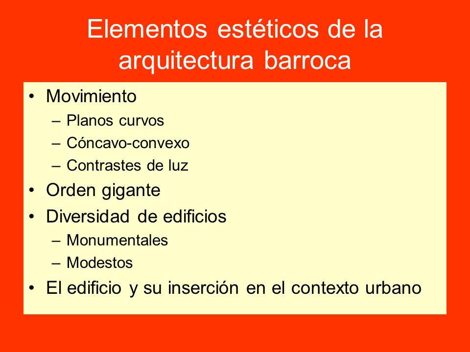 Elementos estéticos de la arquitectura barroca
