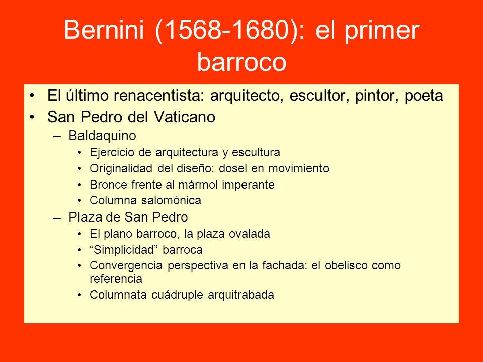 Bernini (1568-1680): el primer barroco