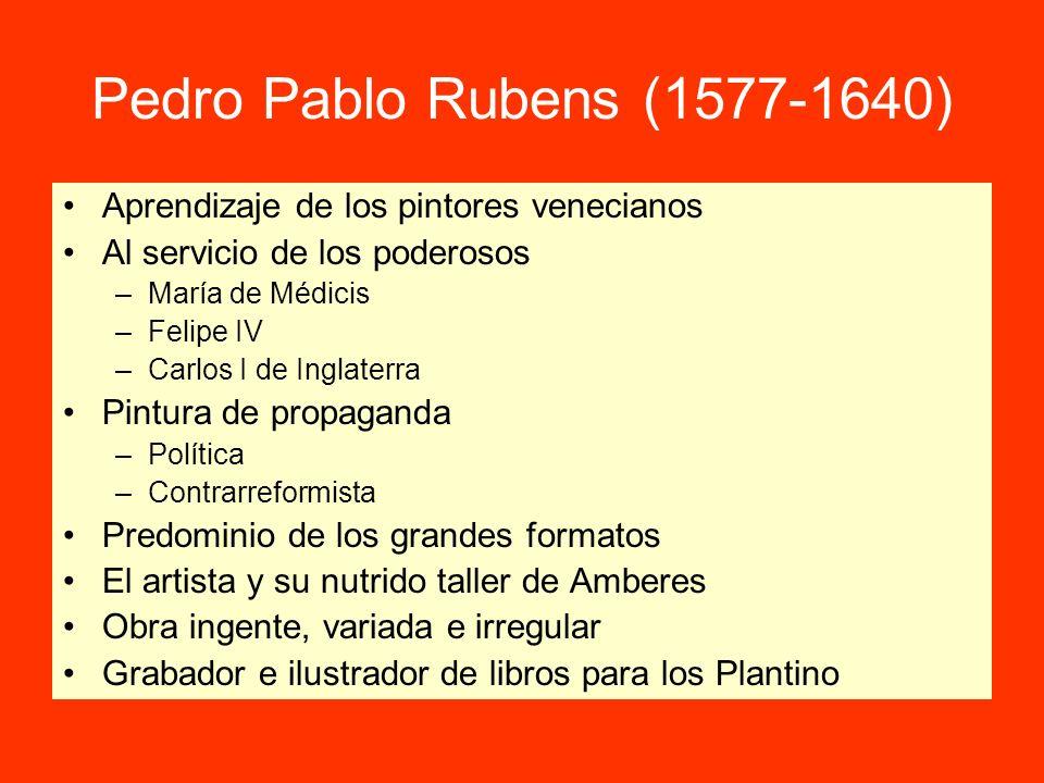 Pedro Pablo Rubens (1577-1640) Aprendizaje de los pintores venecianos