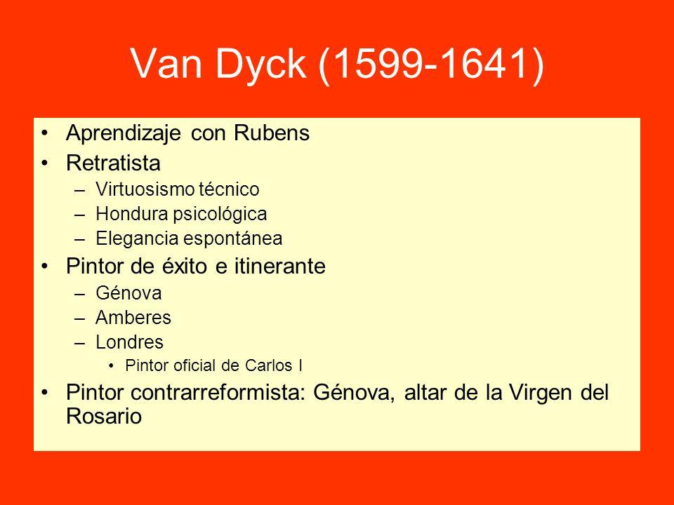 Van Dyck (1599-1641) Aprendizaje con Rubens Retratista