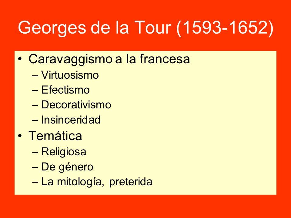 Georges de la Tour (1593-1652) Caravaggismo a la francesa Temática