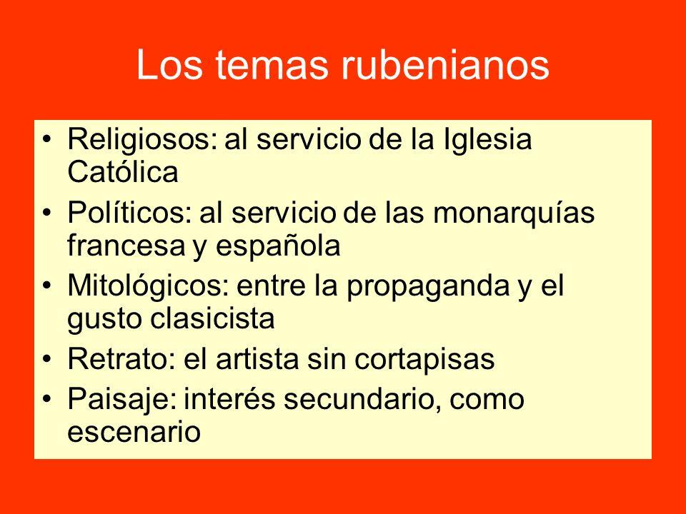 Los temas rubenianos Religiosos: al servicio de la Iglesia Católica