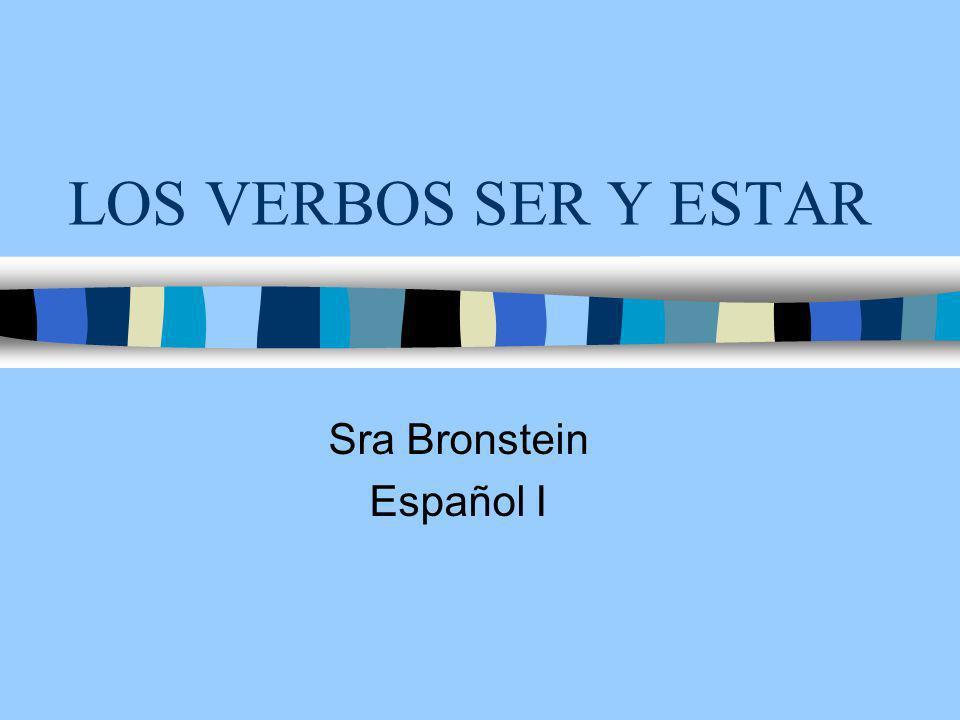 Sra Bronstein Español I
