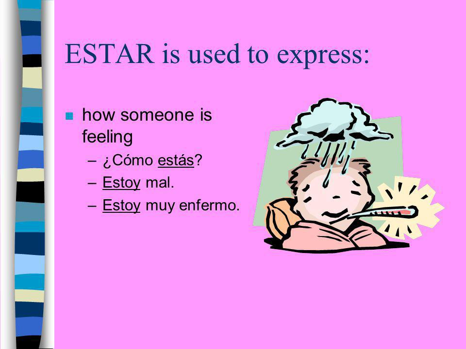 ESTAR is used to express: