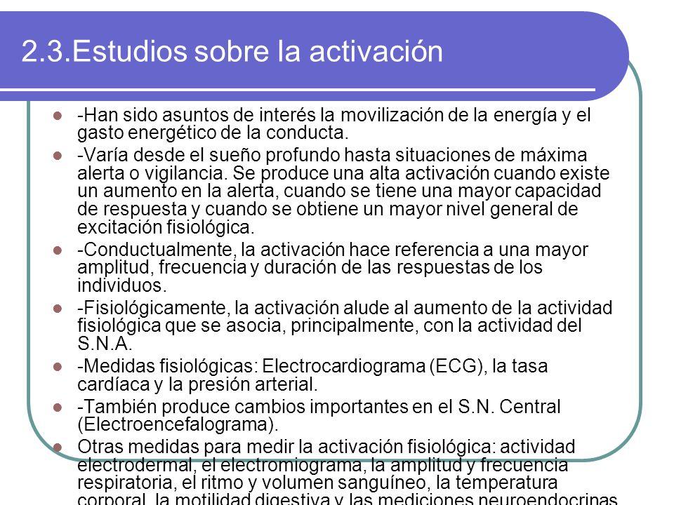 2.3.Estudios sobre la activación