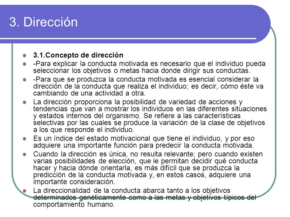 3. Dirección 3.1.Concepto de dirección