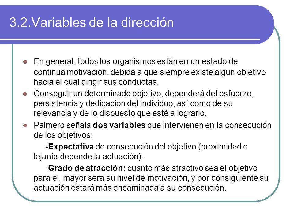 3.2.Variables de la dirección