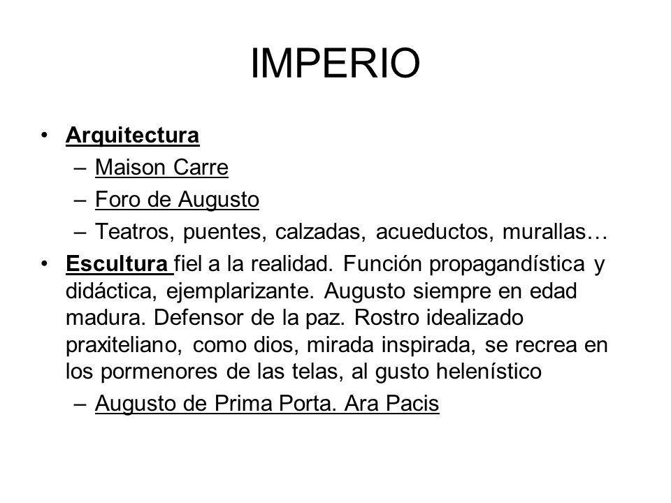 IMPERIO Arquitectura Maison Carre Foro de Augusto