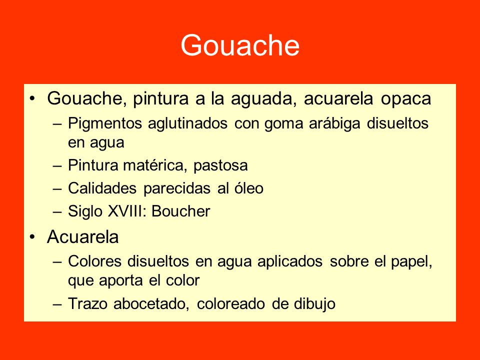 Gouache Gouache, pintura a la aguada, acuarela opaca Acuarela