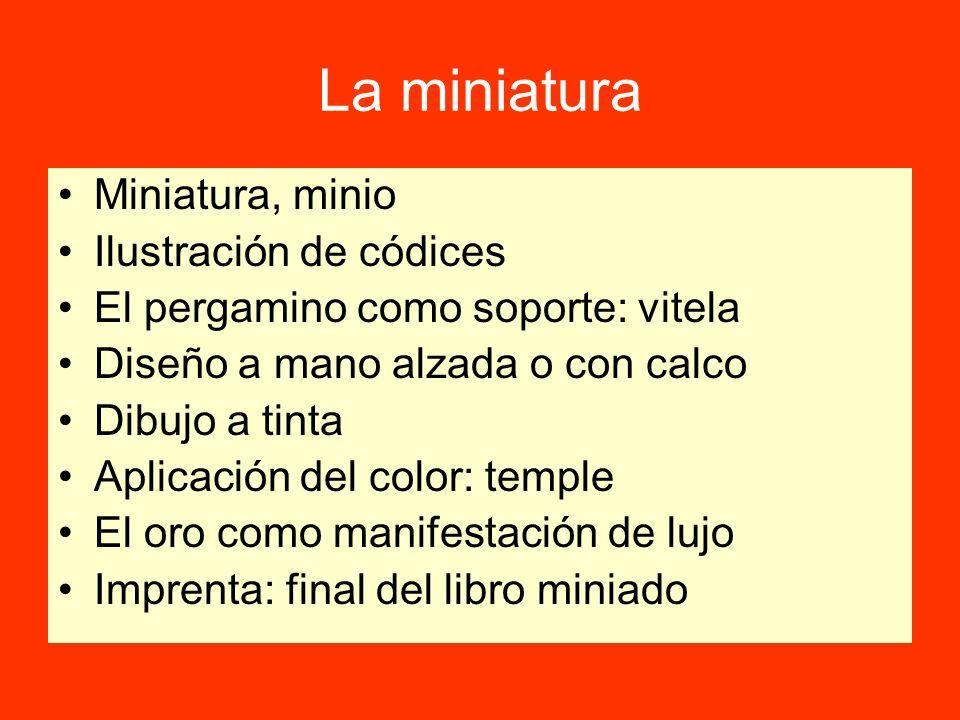 La miniatura Miniatura, minio Ilustración de códices