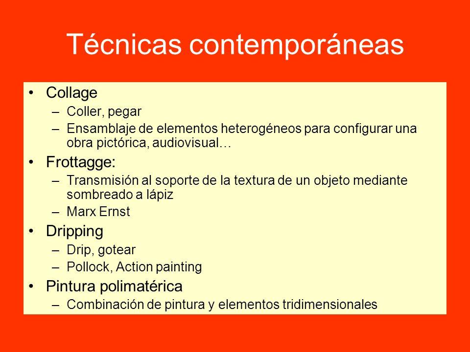 Técnicas contemporáneas