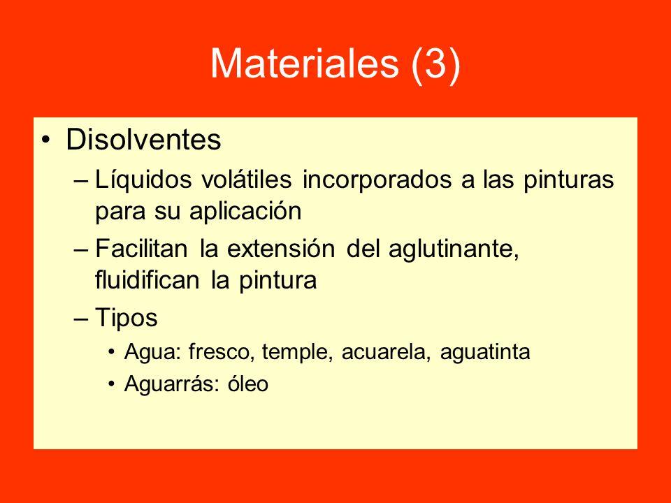 Materiales (3) Disolventes