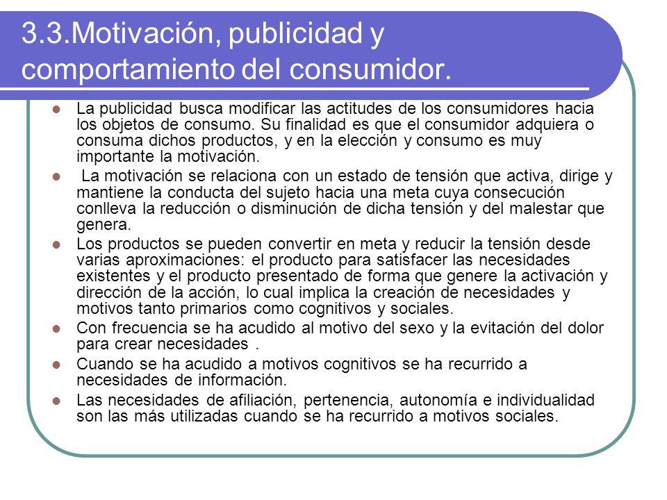 3.3.Motivación, publicidad y comportamiento del consumidor.