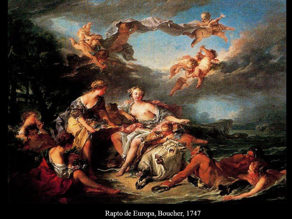 Rapto de Europa, Boucher, 1747