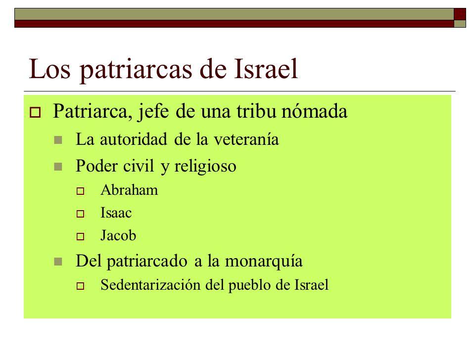 Los patriarcas de Israel