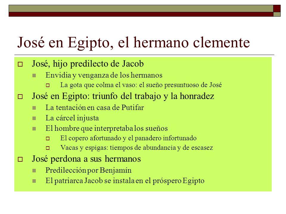José en Egipto, el hermano clemente