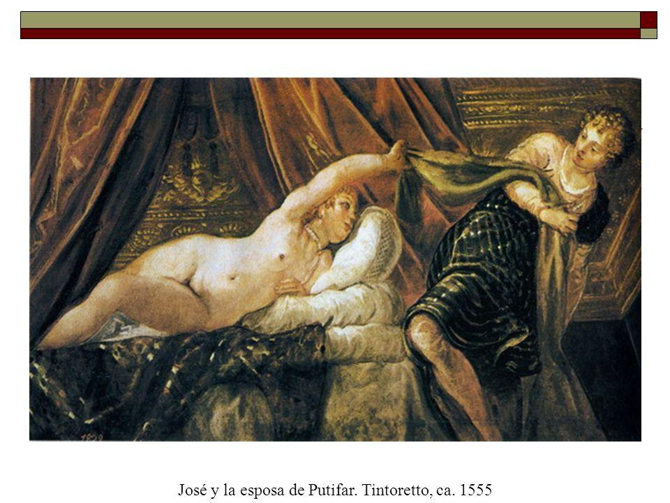 José y la esposa de Putifar. Tintoretto, ca. 1555