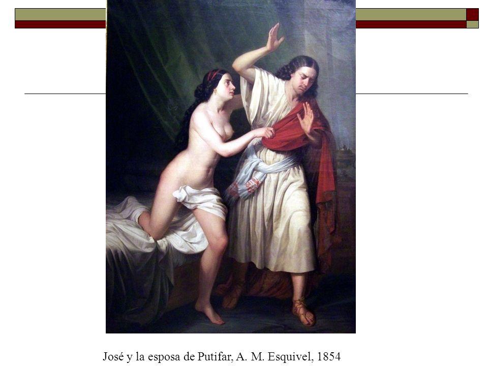 José y la esposa de Putifar, A. M. Esquivel, 1854