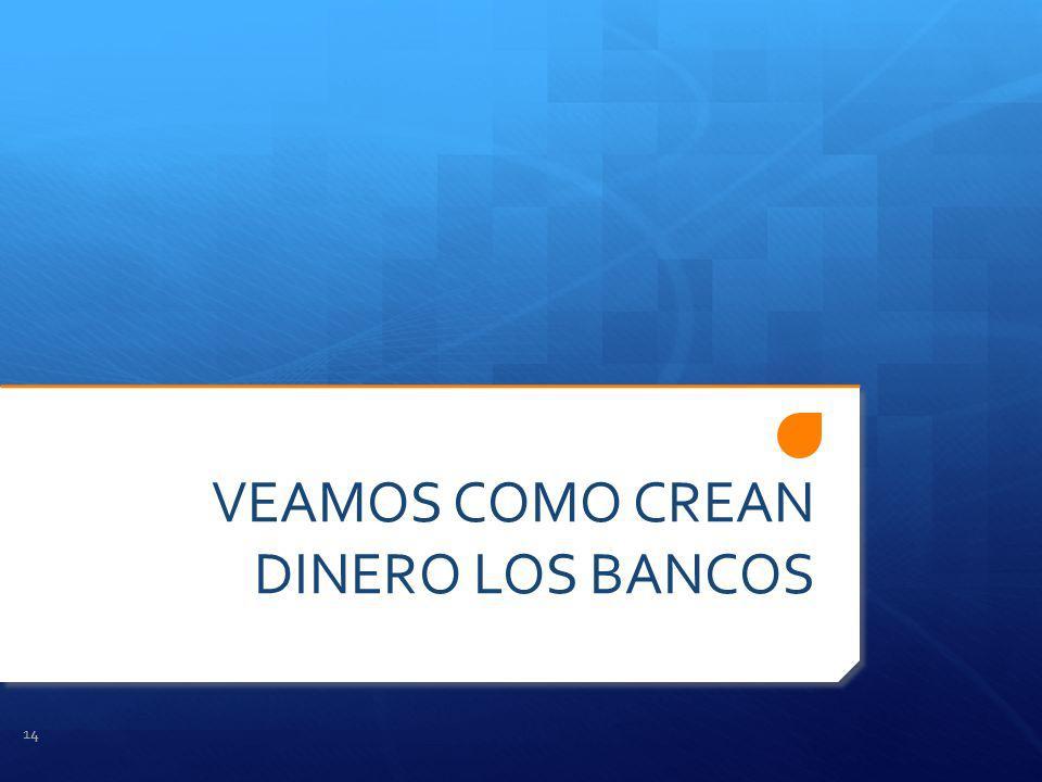 VEAMOS COMO CREAN DINERO LOS BANCOS