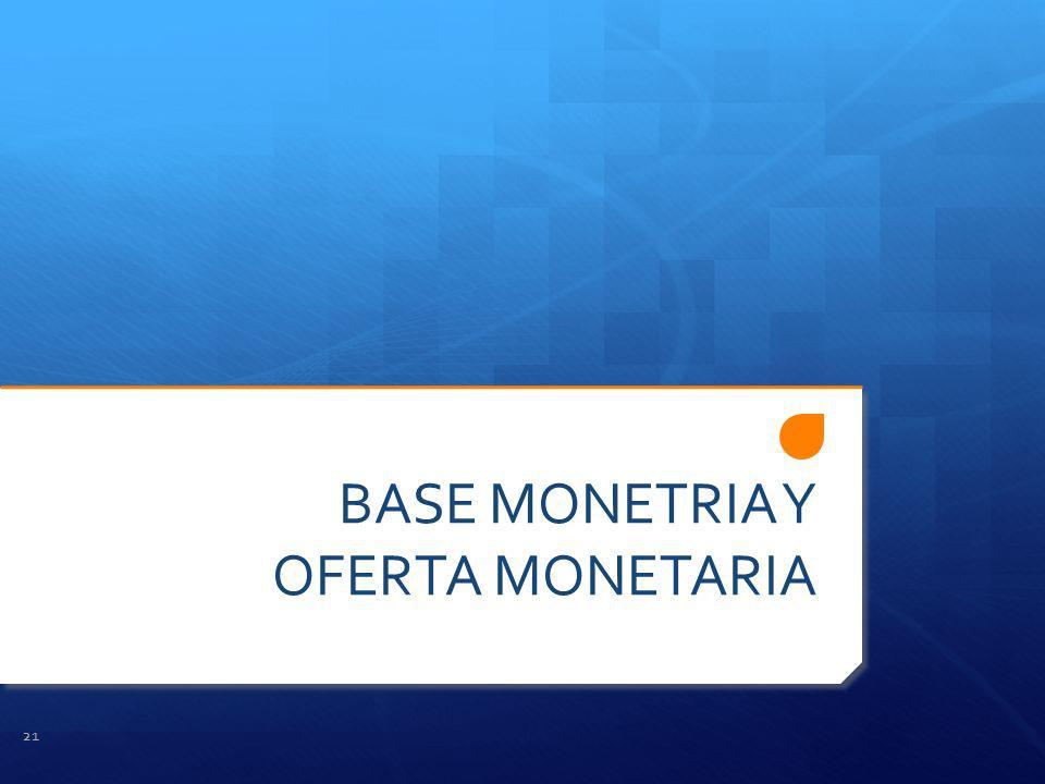 BASE MONETRIA Y OFERTA MONETARIA