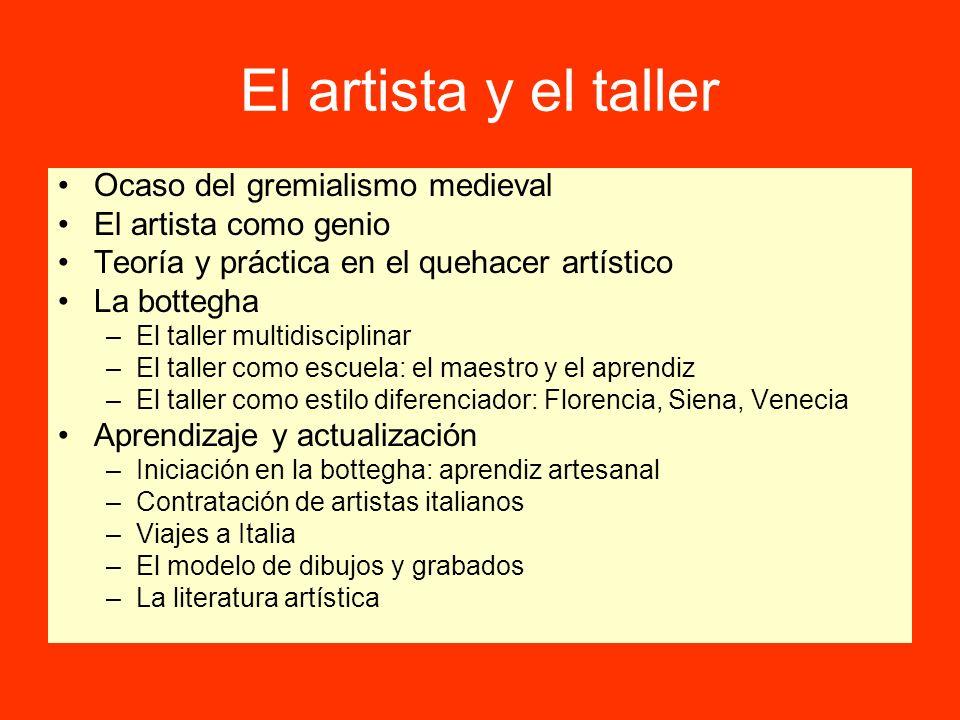 El artista y el taller Ocaso del gremialismo medieval