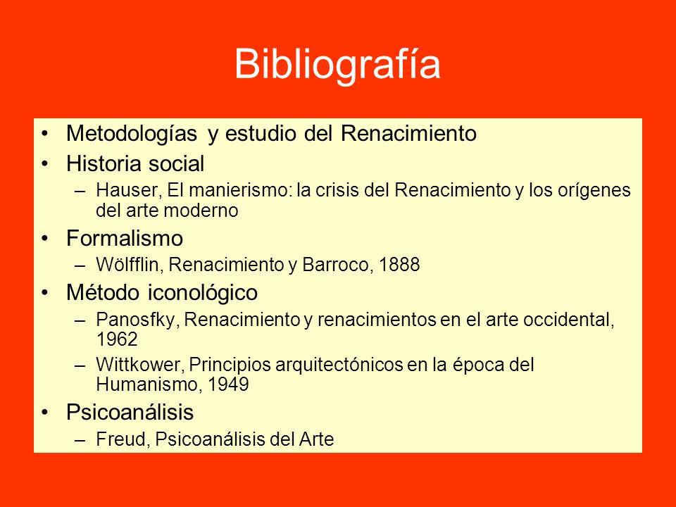 Bibliografía Metodologías y estudio del Renacimiento Historia social