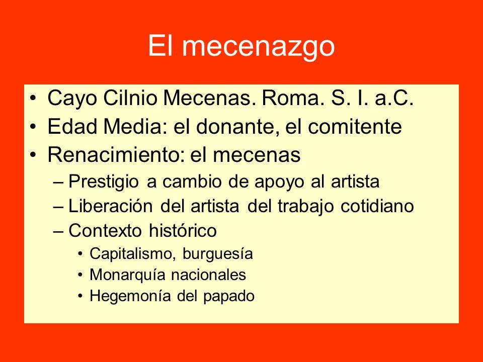 El mecenazgo Cayo Cilnio Mecenas. Roma. S. I. a.C.