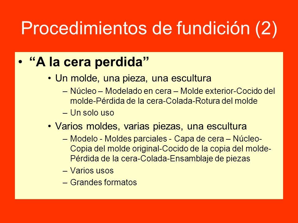 Procedimientos de fundición (2)