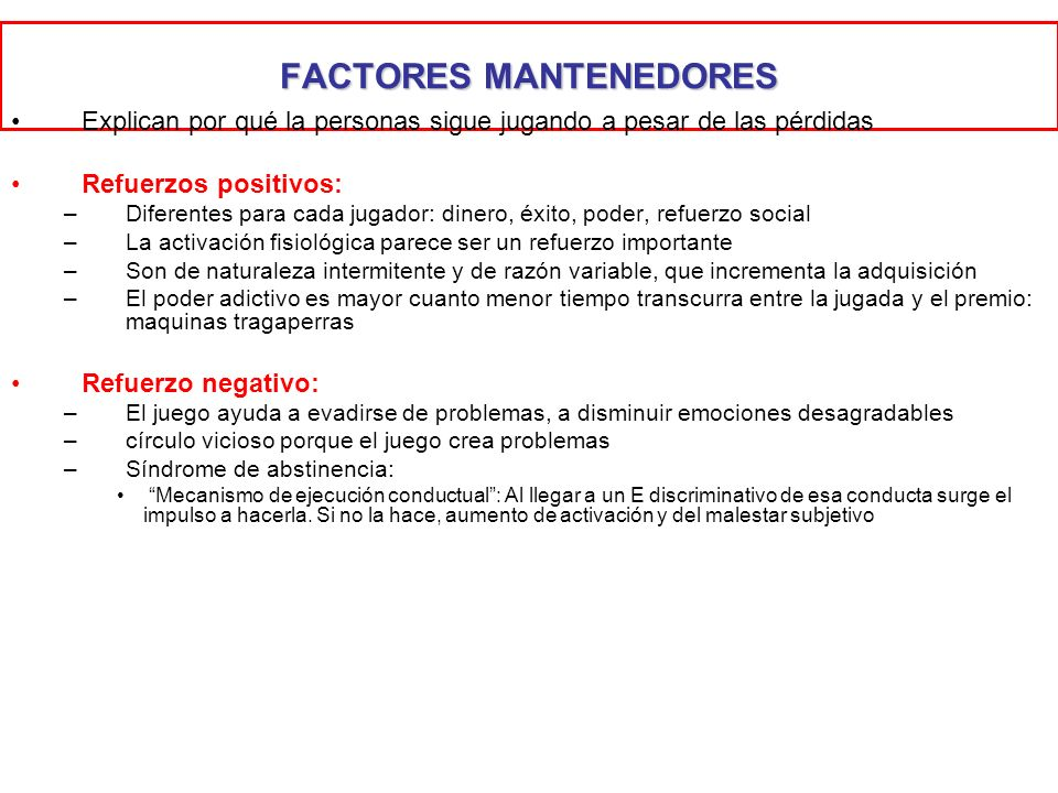 FACTORES MANTENEDORES