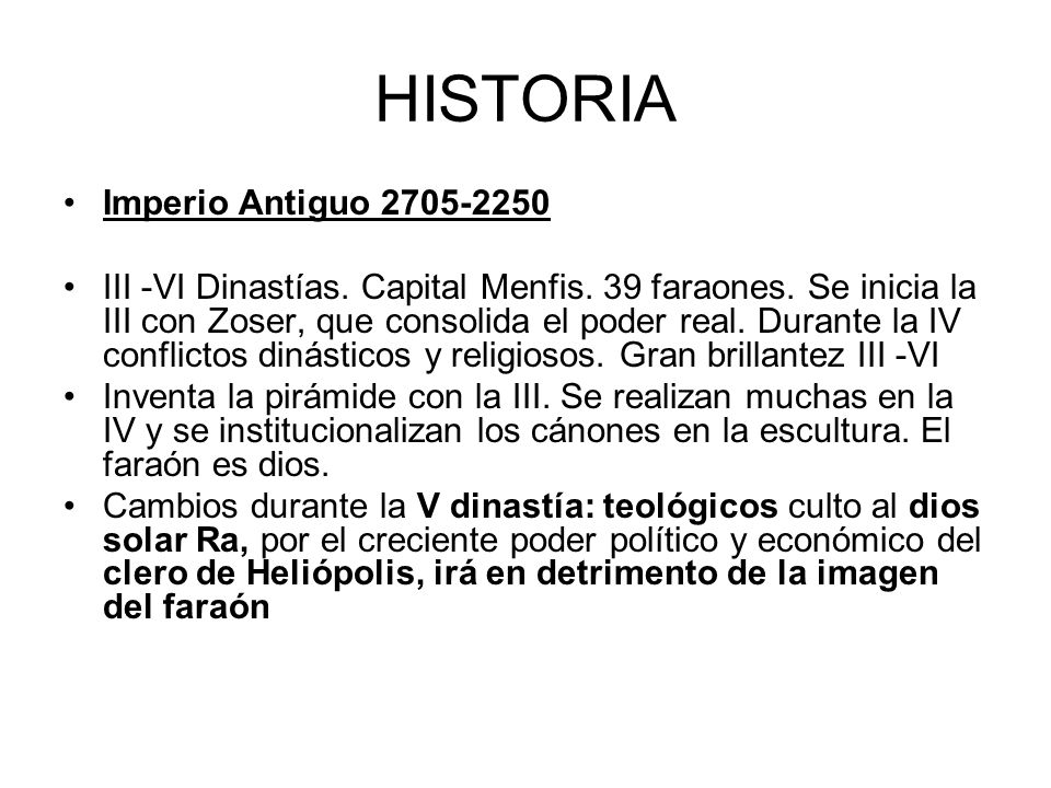 HISTORIA Imperio Antiguo 2705-2250