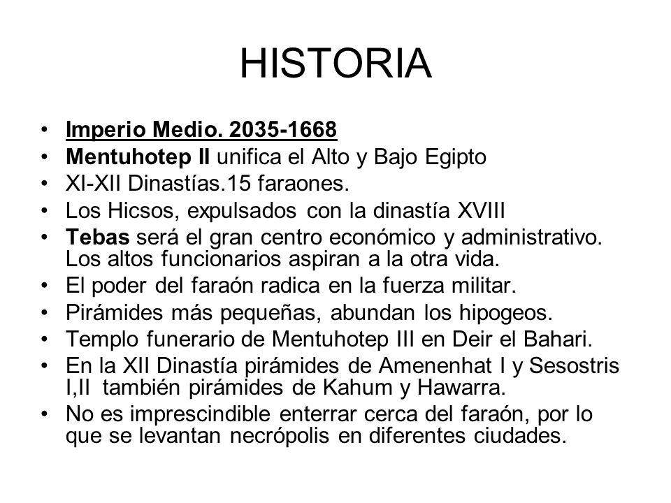 HISTORIA Imperio Medio. 2035-1668