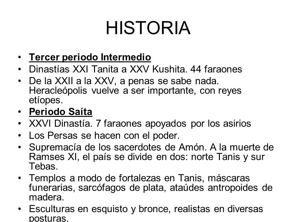 HISTORIA Tercer periodo Intermedio