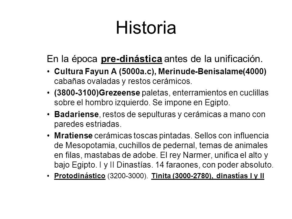 Historia En la época pre-dinástica antes de la unificación.