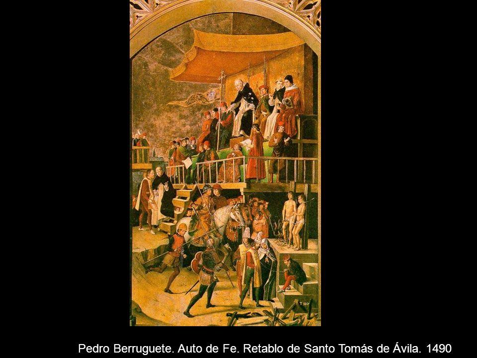 Pedro Berruguete. Auto de Fe. Retablo de Santo Tomás de Ávila. 1490