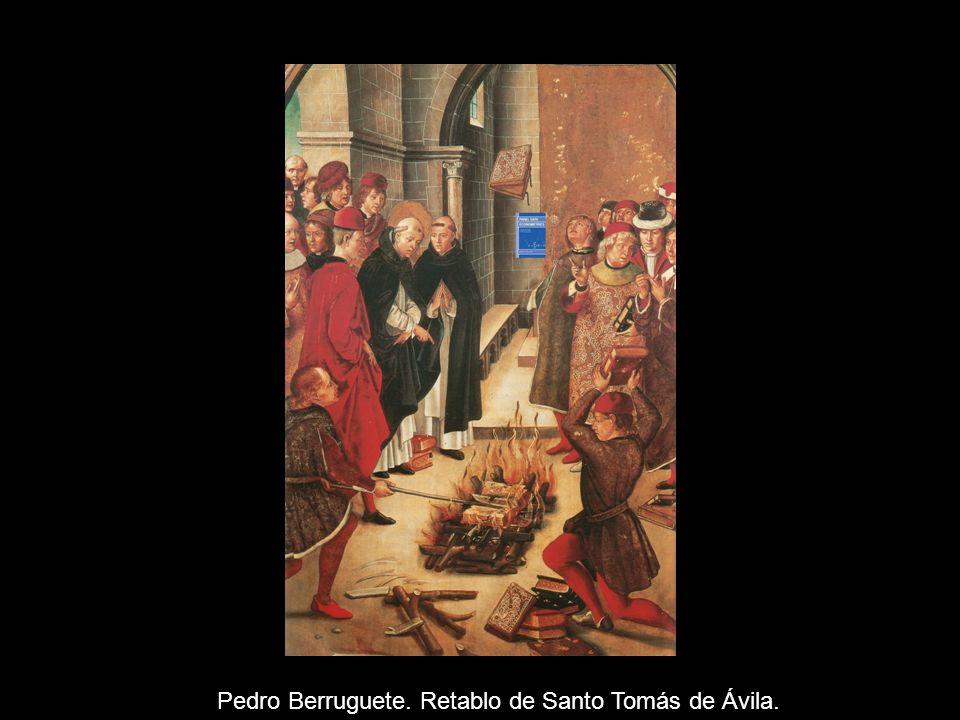 Pedro Berruguete. Retablo de Santo Tomás de Ávila.