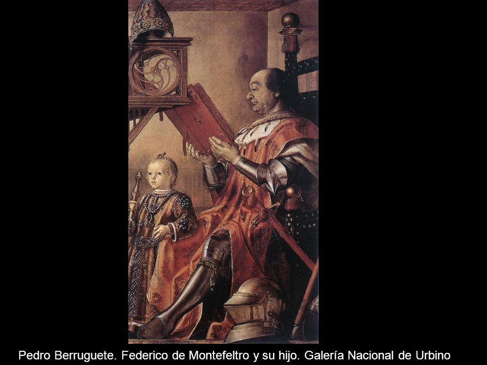 Pedro Berruguete. Federico de Montefeltro y su hijo