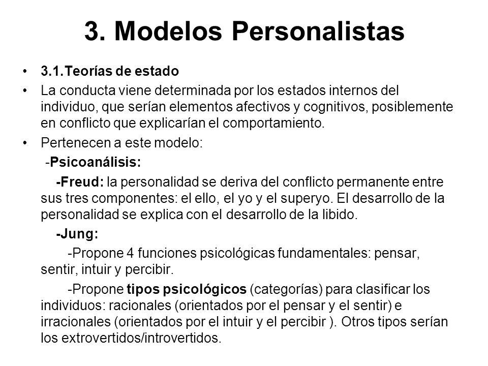 3. Modelos Personalistas