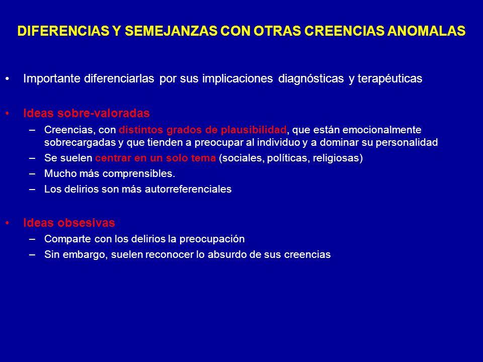 DIFERENCIAS Y SEMEJANZAS CON OTRAS CREENCIAS ANOMALAS