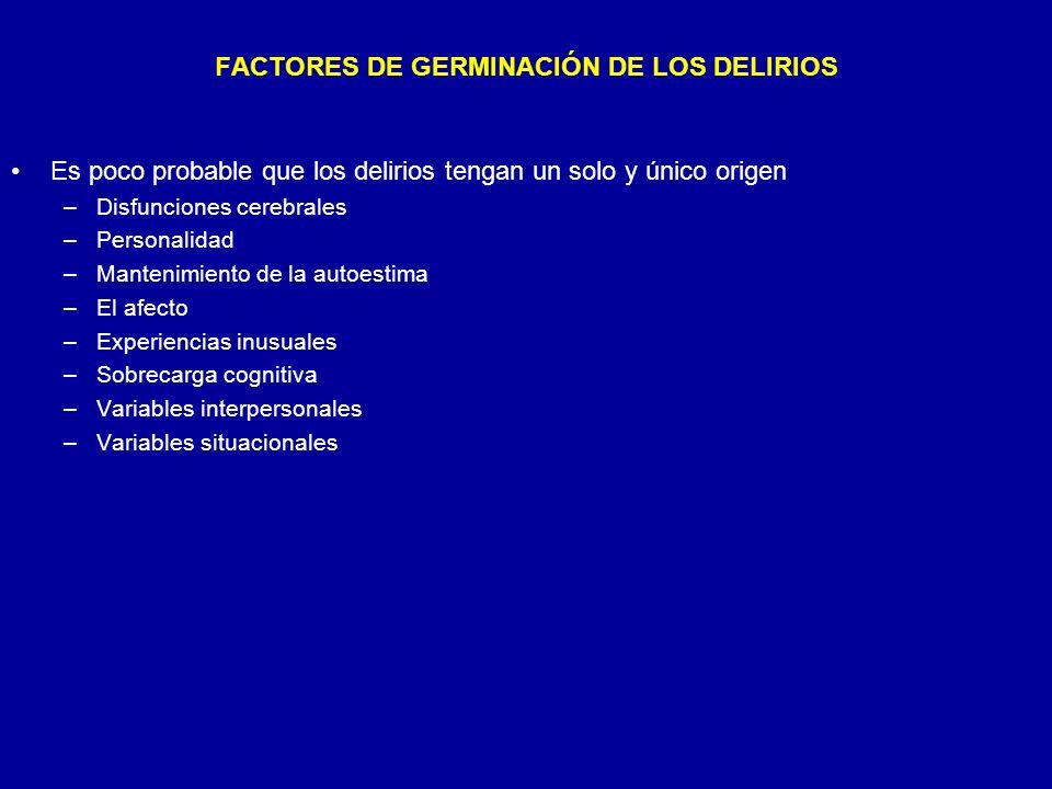 FACTORES DE GERMINACIÓN DE LOS DELIRIOS