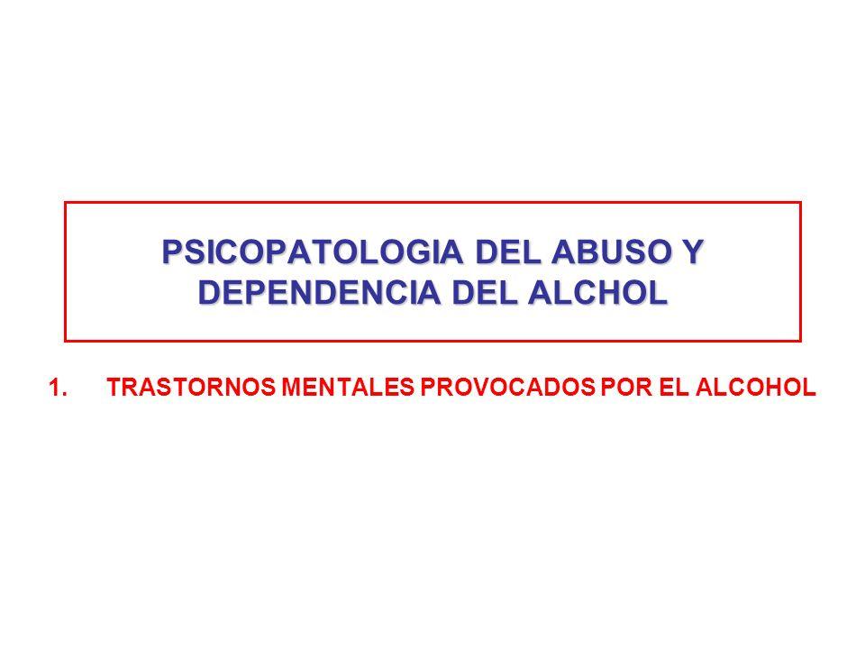 PSICOPATOLOGIA DEL ABUSO Y DEPENDENCIA DEL ALCHOL