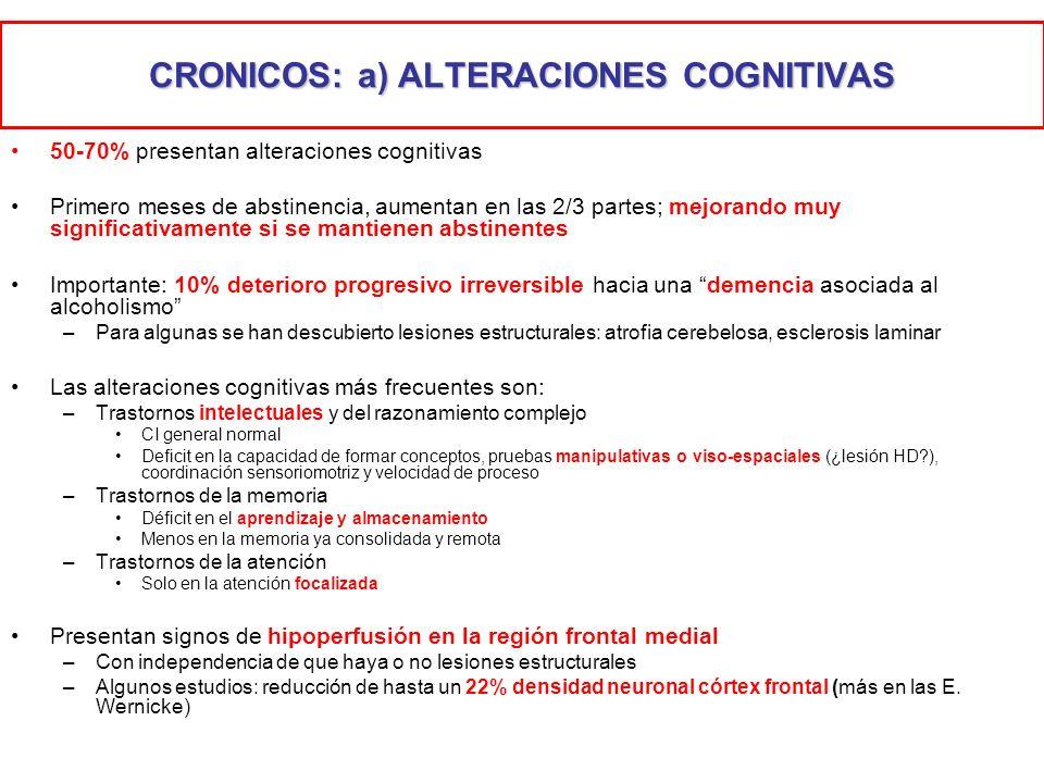 CRONICOS: a) ALTERACIONES COGNITIVAS