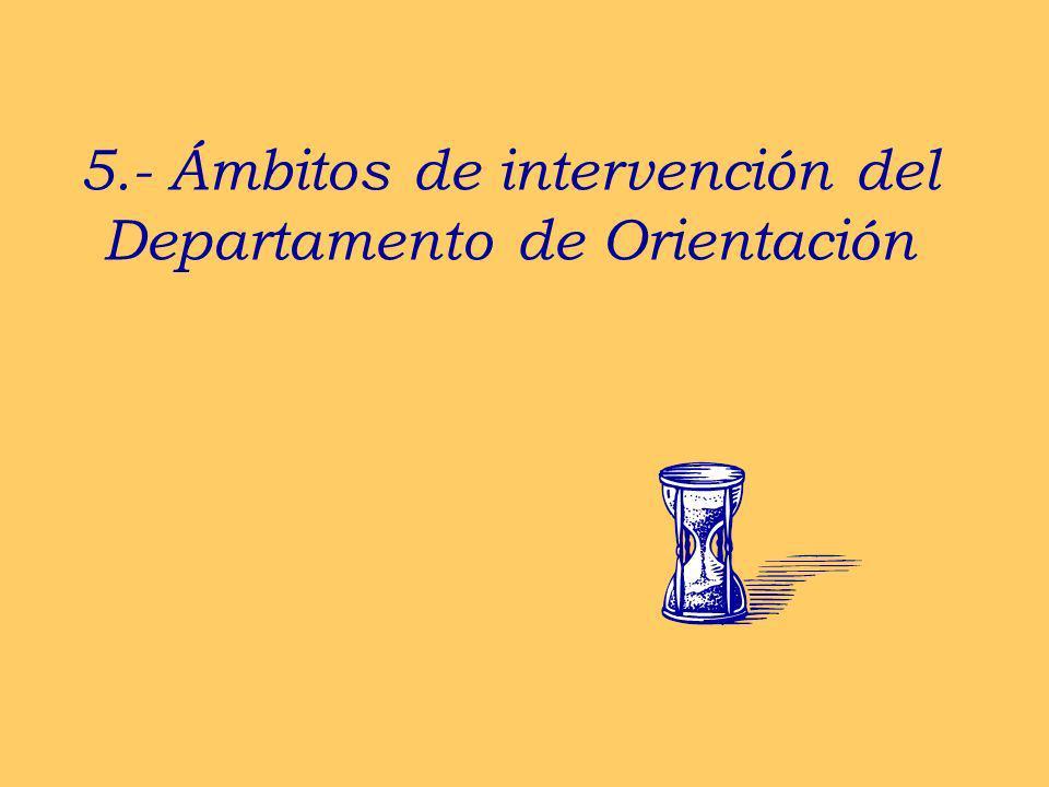 5.- Ámbitos de intervención del Departamento de Orientación