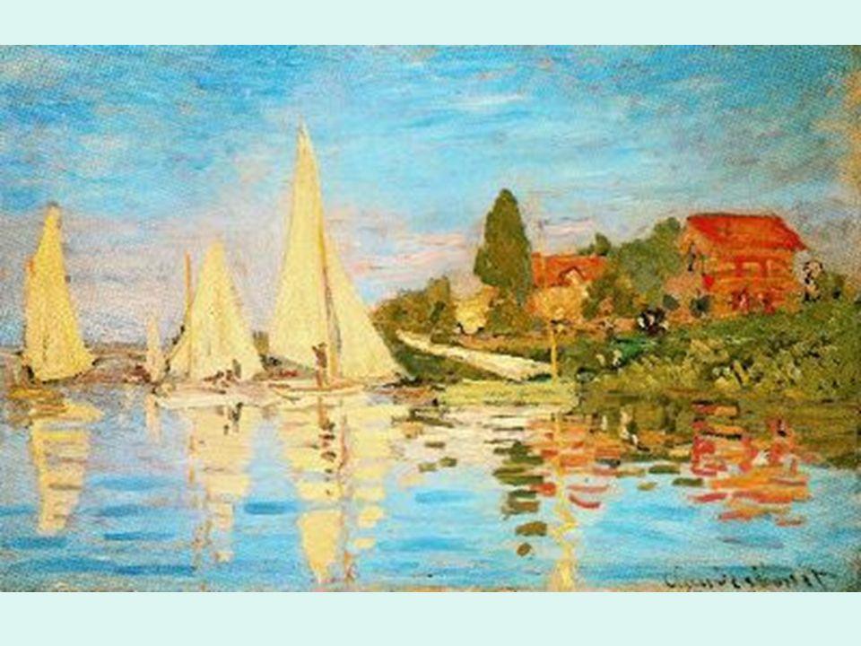 Impresionismo Monet. Regata en Argenteuil